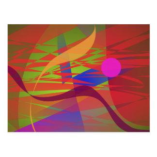 Composition Kandinsky Oriental Emulation Postcard