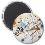 Composition VIII 6 Cm Round Magnet