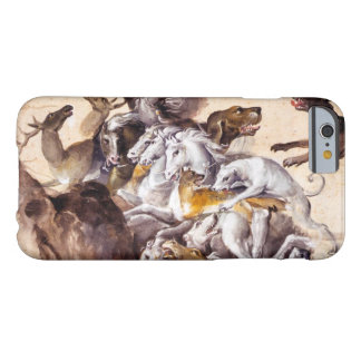 COMPOSITION WITH ANIMALS,REARING HORSES,DEERS,DOG BARELY THERE iPhone 6 CASE