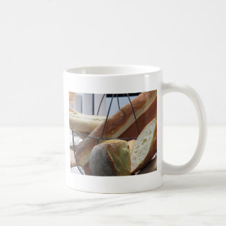 Composition with different types of baked bread coffee mug