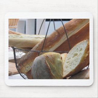 Composition with different types of baked bread mouse pad