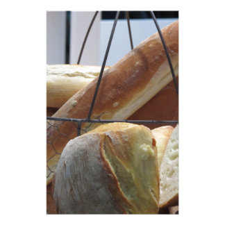 Composition with different types of baked bread stationery