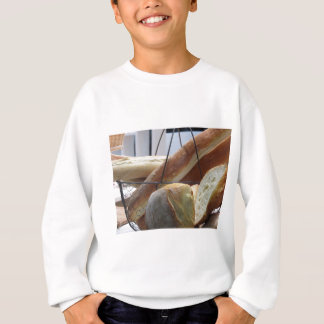 Composition with different types of baked bread sweatshirt