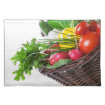 Composition With Raw Vegetables Place Mats