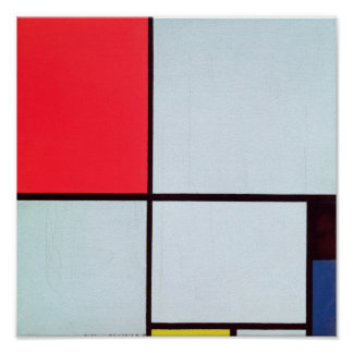 Composition with Red, Black, Blue & Yellow, 1928 Poster