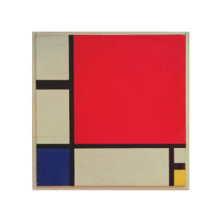 Composition with Red, Blue and Yellow Wood Canvas