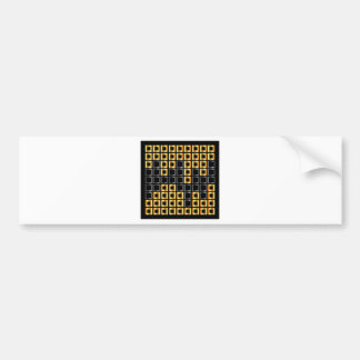 composition with squares bumper sticker