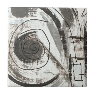 Compromise-Black and Gray Abstract Brushstrokes Tile