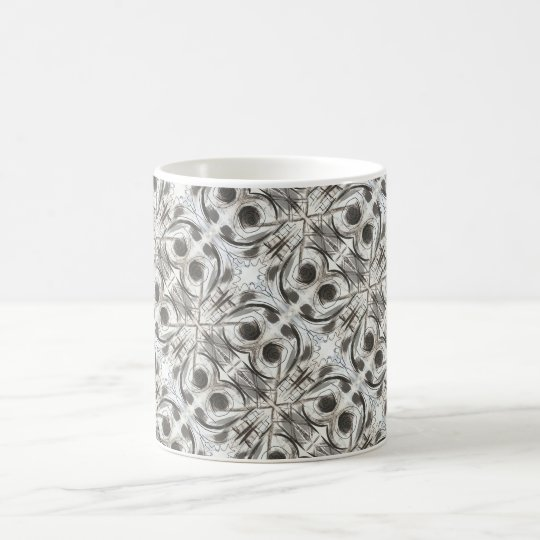 Compromise-Black and Grey Abstract Brushstrokes Coffee Mug