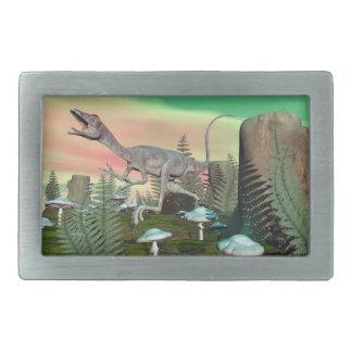 Compsognathus dinosaur - 3D render Belt Buckle