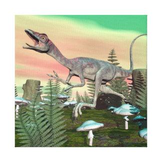 Compsognathus dinosaur - 3D render Canvas Print