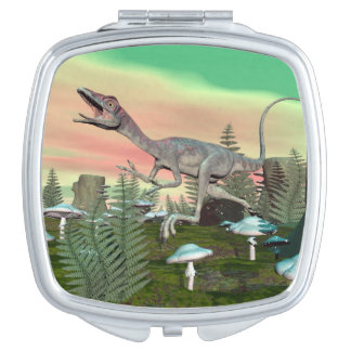 Compsognathus dinosaur - 3D render Travel Mirrors