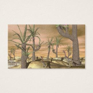 Compsognathus dinosaurs - 3D render Business Card