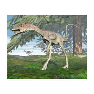 Compsognathus dinosaurs - 3D render Canvas Print