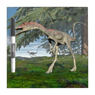 Compsognathus dinosaurs - 3D render Dry Erase Board