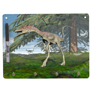 Compsognathus dinosaurs - 3D render Dry Erase Board With Key Ring Holder