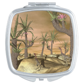 Compsognathus dinosaurs - 3D render Vanity Mirrors