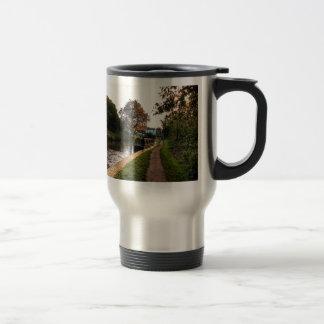 Compton canal and barge travel mug