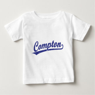 Compton script logo in blue baby T-Shirt