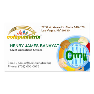 Compumatrix Calling Card Pack Of Standard Business Cards