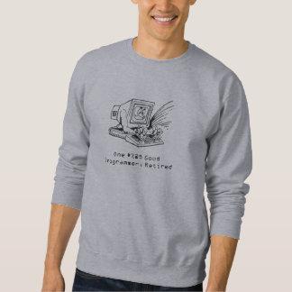 Computer 1200 Greyscale, One #%@$ Good Programm... Sweatshirt