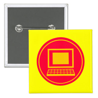 Computer 15 Cm Square Badge