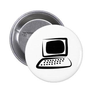 Computer 6 Cm Round Badge