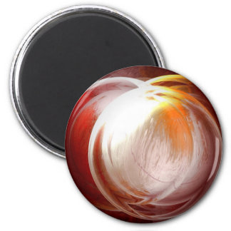Computer Abstract Painting 6 Cm Round Magnet