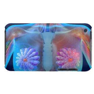 Computer artwork representing breast cancer, iPod touch Case-Mate case