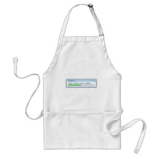 Computer based cooking standard apron