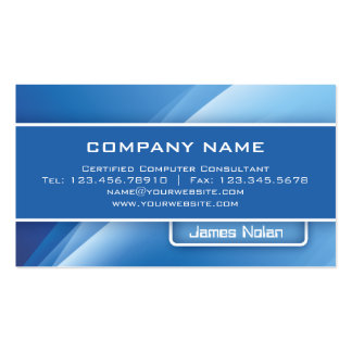 Computer Business Cards Blue Abstract Rays