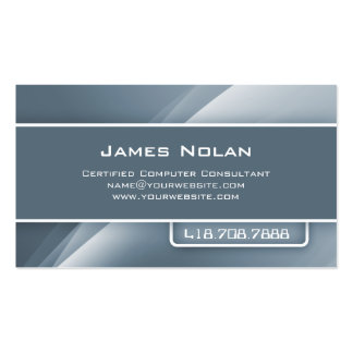 Computer Business Cards Gray Abstract Rays