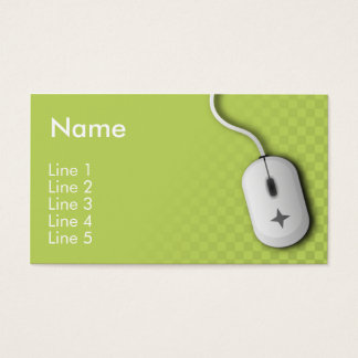 Computer Business (Green) Business Card