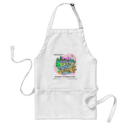 Computer Camp Funny Tees Mugs Gifts Etc. Aprons