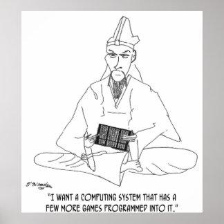 Computer Cartoon 0145 Poster