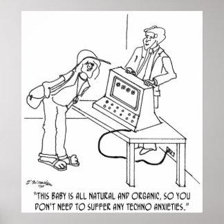 Computer Cartoon 0694 Poster