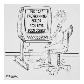 Computer Cartoon 1164 Poster