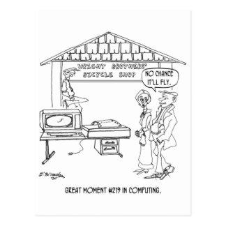 Computer Cartoon 1331 Postcard