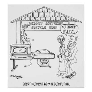 Computer Cartoon 1331 Poster