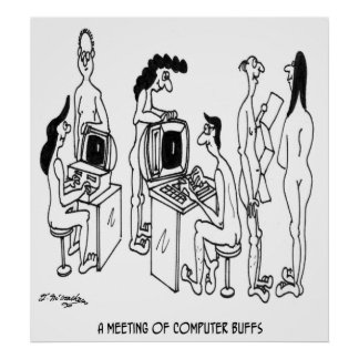 Computer Cartoon 4130 Poster