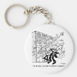 Computer Cartoon 4637 Key Ring