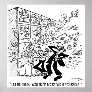 Computer Cartoon 4637 Poster