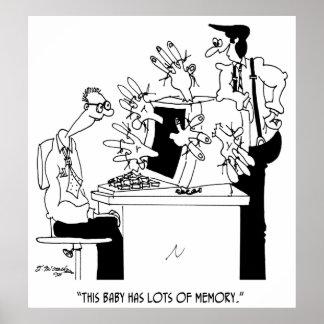 Computer Cartoon 6822 Poster