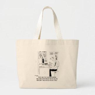 Computer Cartoon 7058 Large Tote Bag