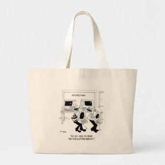 Computer Cartoon 7063 Large Tote Bag