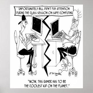 Computer Cartoon 8035 Poster