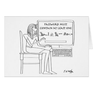 Computer Cartoon 9341 Card