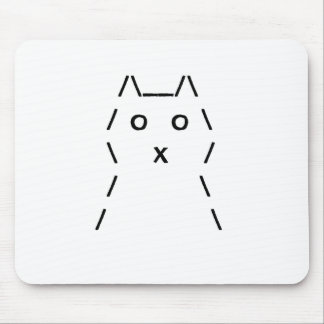 Computer Cat Mouse-pad (Black on white) Mouse Pad