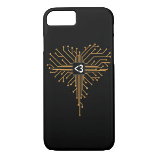 Computer Chip heart iPhone 7 Case