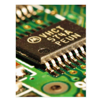 Computer Chips Circuits Boards Postcard